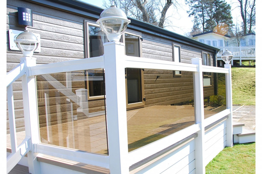 UPVC racing with glass panels